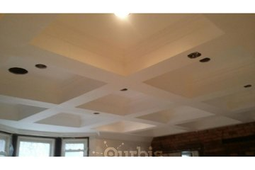 1 Day Painters in Toronto: Coffered ceiling - built, plastered and painted by 1 Day Painters