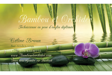 Bambou et Orchidée