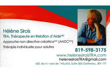 Helene Sirois TRA, Thérapeute en Relation d'Aide MD