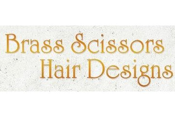 Brass Scissors Hair Designs