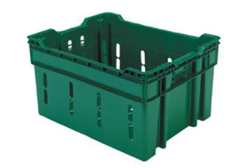 Dubois Agrinovation in Saint-Rémi: green plastic containers