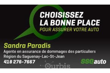 Sandra Paradis, agente en assurance de dommages affiliée à SSQauto