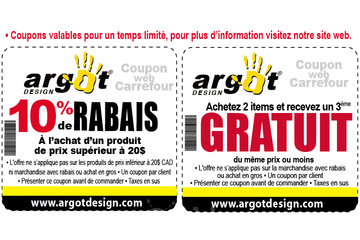 Argot Design à Montréal: 1 free t-shirt/ 1 t-shirt gratuit
